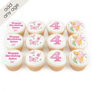 12 Fairy Number Cupcakes