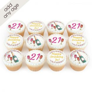 Any Age Champagne Cupcakes