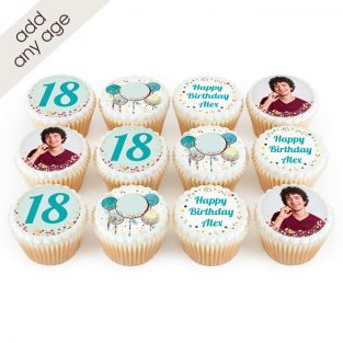 Blue Balloon Age Cupcakes