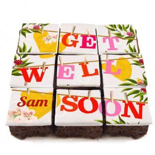 Get Well Soon Washline Brownies