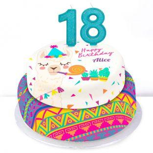 18th Birthday Party Llama Cake