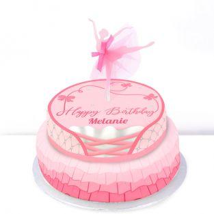 Tiered Ballerina Birthday Cake