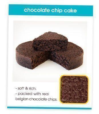 Chocolate Chip Cake Recipe Card