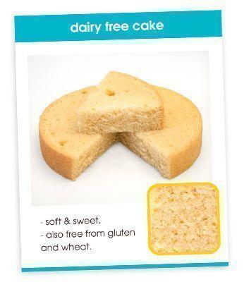 Dairy Free Cake Recipe Card