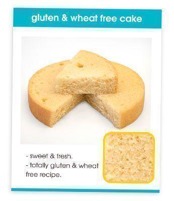 Gluten & Wheat Free Cake Recipe Card